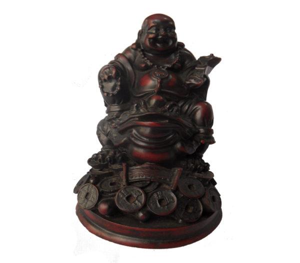 Dark Brown Laughing Buddha