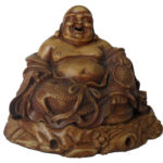 Brown Ceramic Laughing Buddha