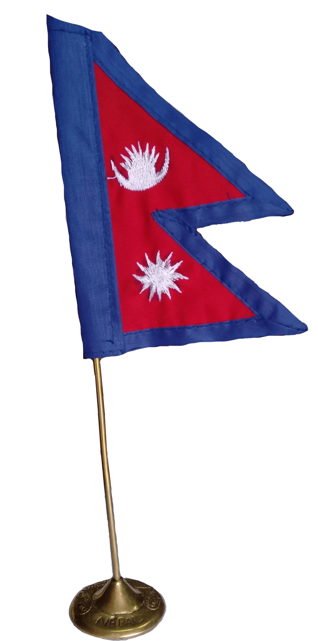 Nepal Flag With Stable Stand-2