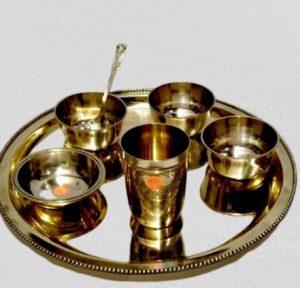 Nepali Thali Set - Bronze / Kansa